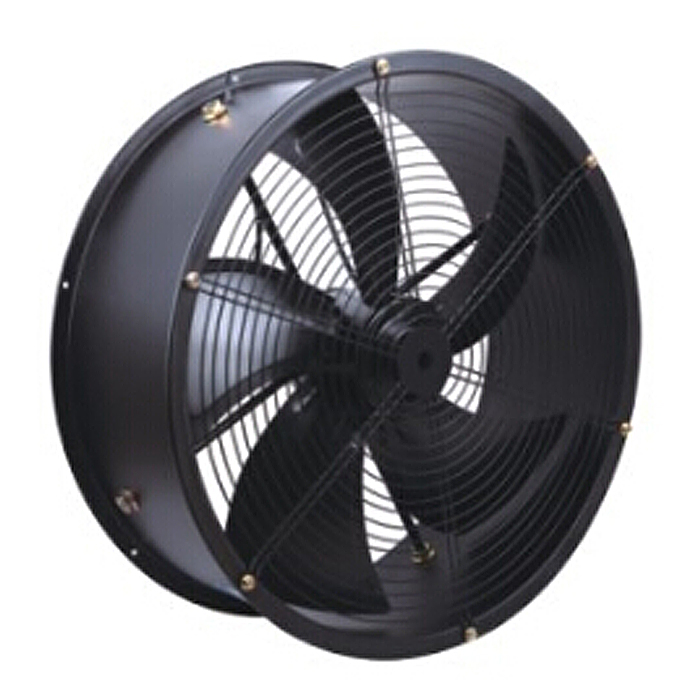 The principle of ventilation and cooling of large industrial fans